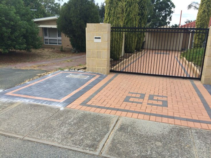 Highlight your driveway with your house number incorporated into the paving.