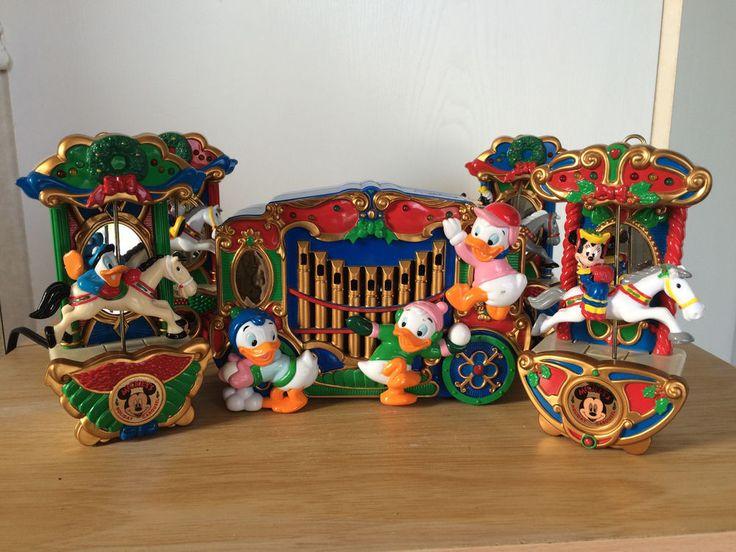 Vgt Disney Mickey's Holiday Carousel Mr Christmas 21 Carols Lighted Decoration #Disney