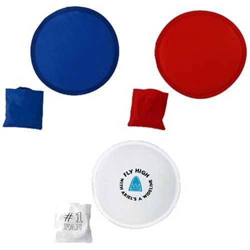 """Looking for a fun promotional item for your next company picnic, community event, or summertime promotion? Then let us introduce you to the Flip-Out Flyer Fan from Quality Logo Products. These nylon discs unfold into 8"""" flying discs that also double as fans. Flip-Out Flyer Fans are a low cost and fun way to market your brand, business, or organization. * Your choice of blue, red, or white fans * Expands from 3"""" pocket size to 8"""" * Use as a fan or as a flying disc * Plenty of ro..."""