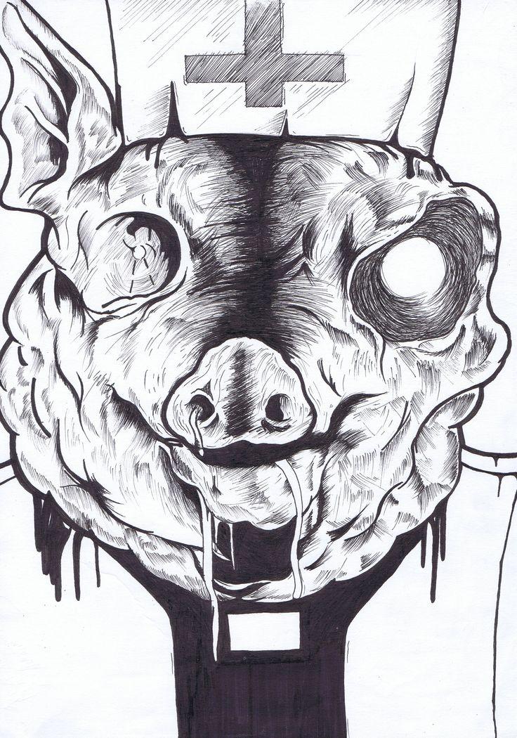 Pig Skull Hat