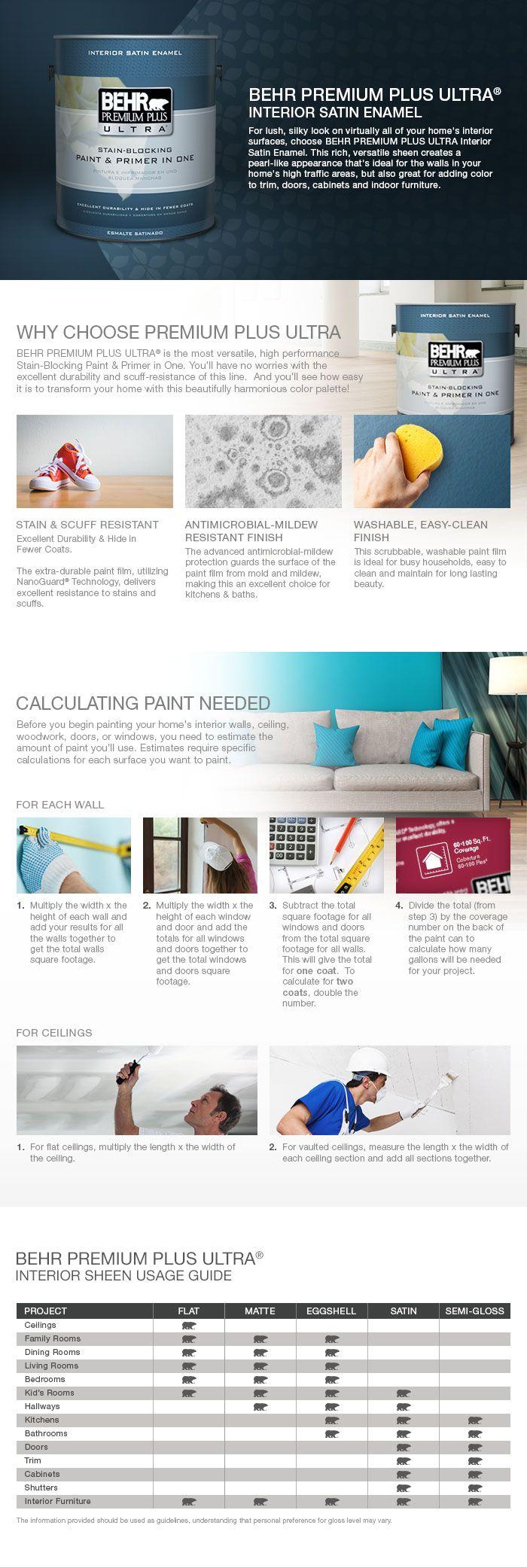 Behr Premium Plus Ultra 8 Oz Gr W09 Snowfall White Satin Enamel Interior Exterior Paint And Primer In One Sample Interior Paint Behr White Ceiling Paint