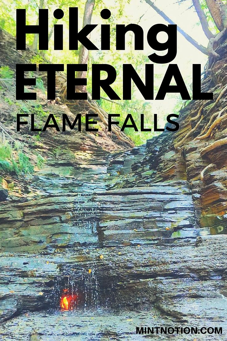 Hiking Eternal Flame Falls #travel #hiking #mintnotion