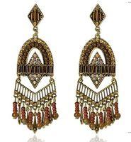 Кисточкой серьги, персонализированные преувеличены богемный ювелирные изделия, ручной работы изделия из металла, экзотические, старинные серьги женщин