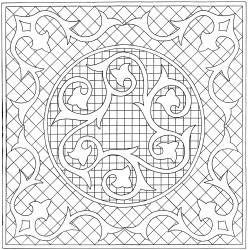 """16.5"""" King Arthur's Crown Stencil"""