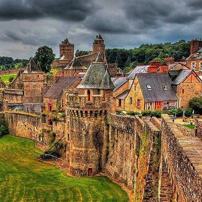 Castle Rampart, Brittany, France