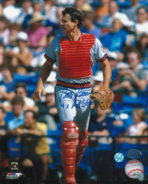 "Bob Boone California Angels Autographed 8x10 Photo Inscribed """"4X All Star"""" -Walking-"