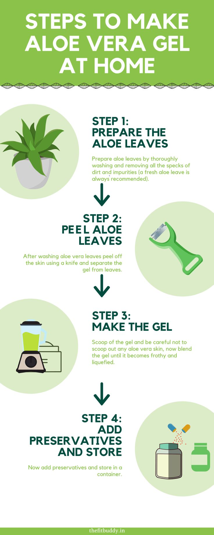 how to make aloe vera gel at home and preserve