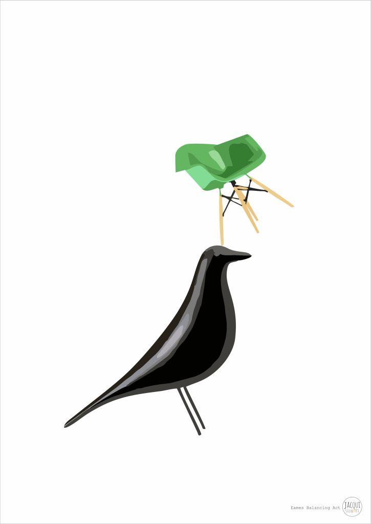 Eames Balancing Act | designer prints.... www.jacquistewart.com.au
