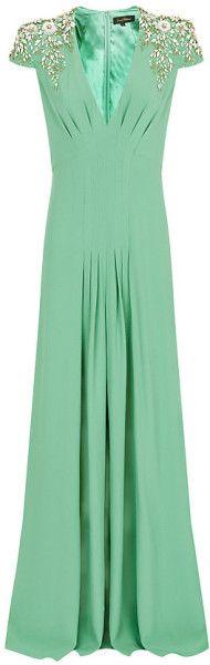 Jenny Packham Embellished Shoulder Gown - Lyst   jaglady