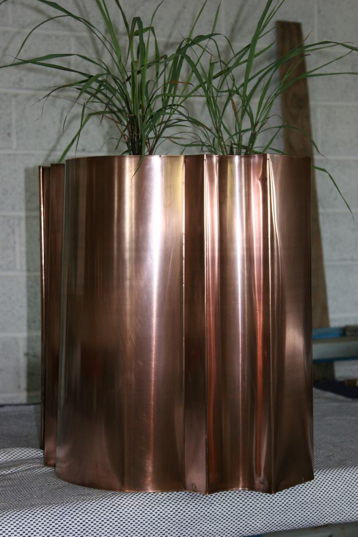 Bronze Copper table or indoor planter