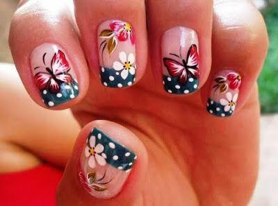 figuras de uñas mariposa - Buscar con Google