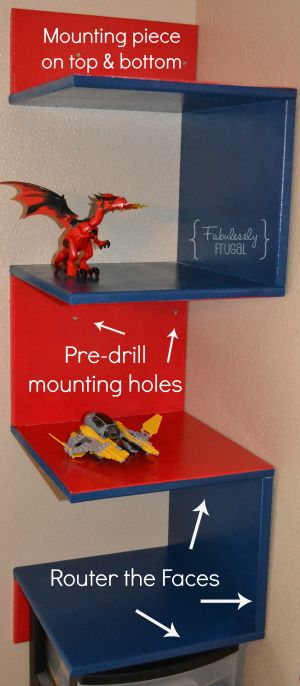 Here's an awesome idea for displaying LEGOS®! All the instructions you need to build a DIY Lego Display Shelf!