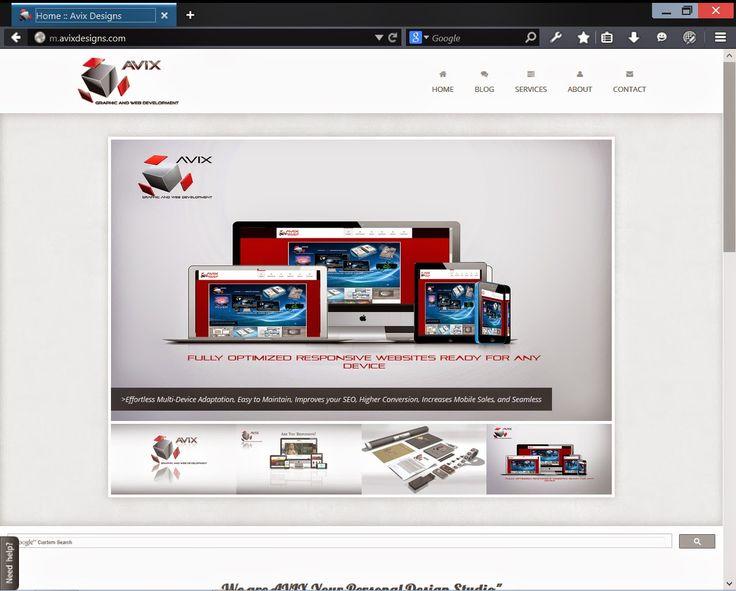 AVIX Graphic and Web Development: New Website Look