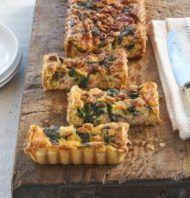 Recept voor hartige taart met zalm en spinazie