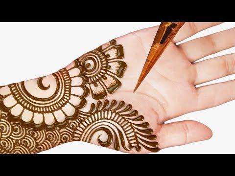 mehandi design arabic front hand full hand