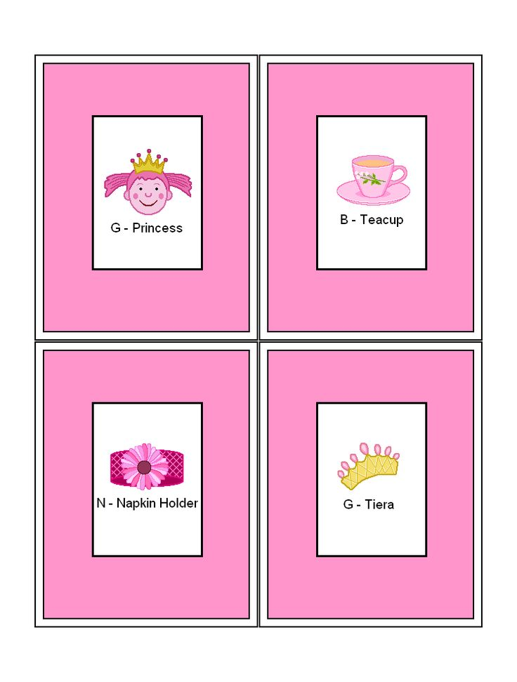FREE Printable Pinkalicious Bingo Games at
