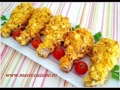 Reteta Pulpe crocante la cuptor a la KFC - افخاذ الدجاج المقرمشة في الفرن