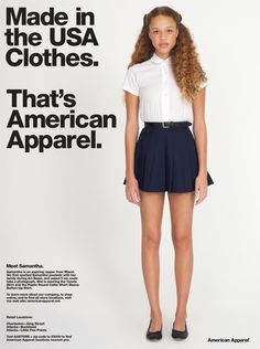 American Apparel Advertisement - Sweatshop Free - www.americanapparel.net