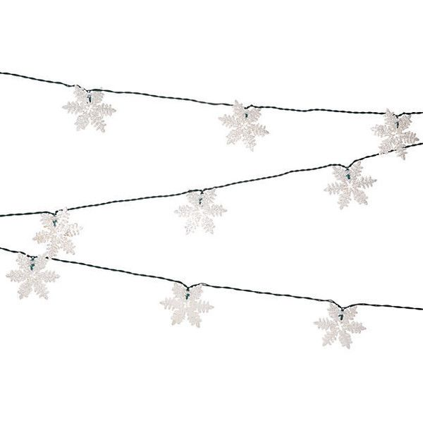 Mini Snowflake String Lights Set of 2 String Lights (1.230 RUB) ❤ liked on Polyvore featuring home, outdoors, outdoor lighting, lighting, indoor outdoor lights, outside light, outside party lights, snowflake string lights and outdoor mini lights