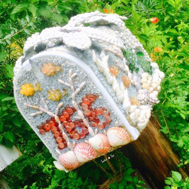 Amazing seashell mailbox, east end of Sanibel. Incredible detail! #seashells #island #mailbox #starfish #islandart #saltair #oceanlove #captiva #sanibel #captivaisland #sanibelstar #sanibelisland
