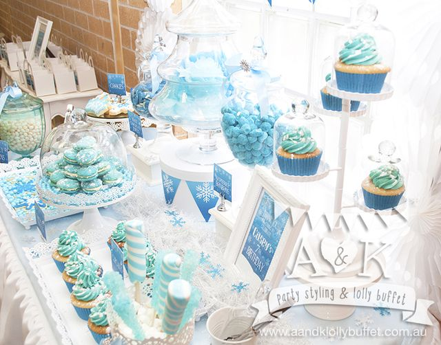 Gorgeous treats at a Frozen Birthday Party!  See more party ideas at CatchMyParty!