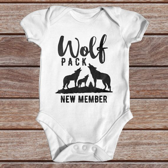 Wolf Pack New Member  Animal Baby Bodysuit  Baby by TinyTearaways