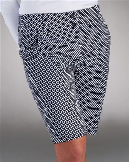 Nancy Lopez Legacy Ladies Golf Short in white/black check | #Golf4Her