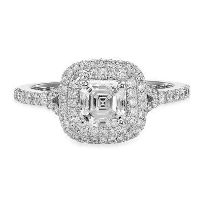 Nice Diamond Halo Engagement Ring in
