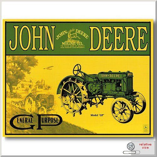 Take a look back in time by viewing this gallery of historic John Deere posters and signs.