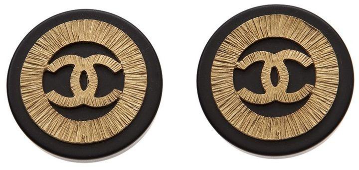Chanel logo earrings on shopstyle.com.au
