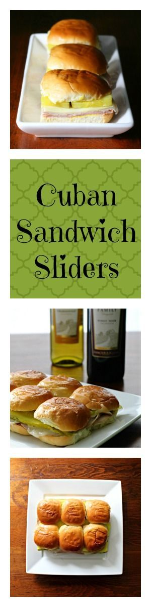 """You'll love these Cuban Sandwich Sliders!  Perfect appetizer for the """"Supper Bowl"""" or any kind of party!  #SundaySupper #GalloFamily"""