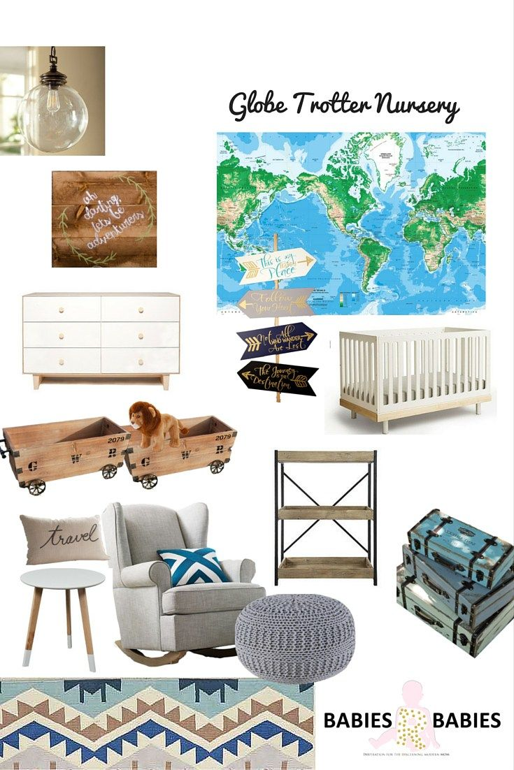 Travel inspired nursery room design for one special baby.