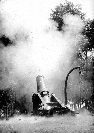 Franse zware artillerie uit de eerste wereldoorlog.