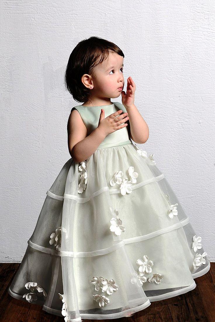 Ball Gown Bateau Floor Length Empire Satin Sleeveless Flower Girl Dress