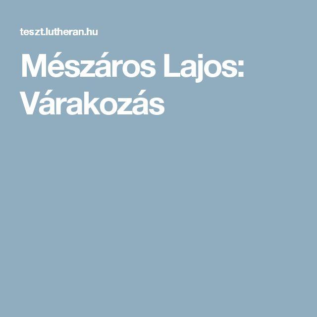 Mészáros Lajos: Várakozás