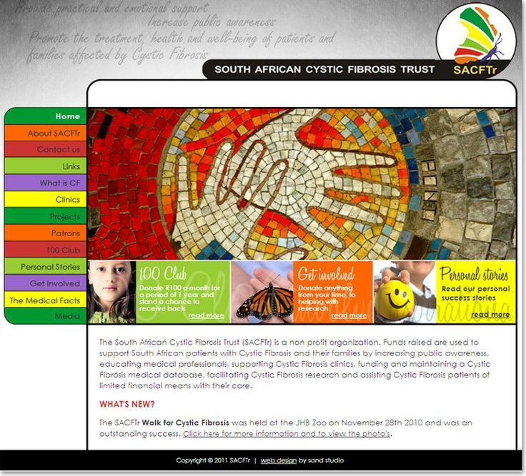 Community website design for South African Cystic Fibrosis Trust