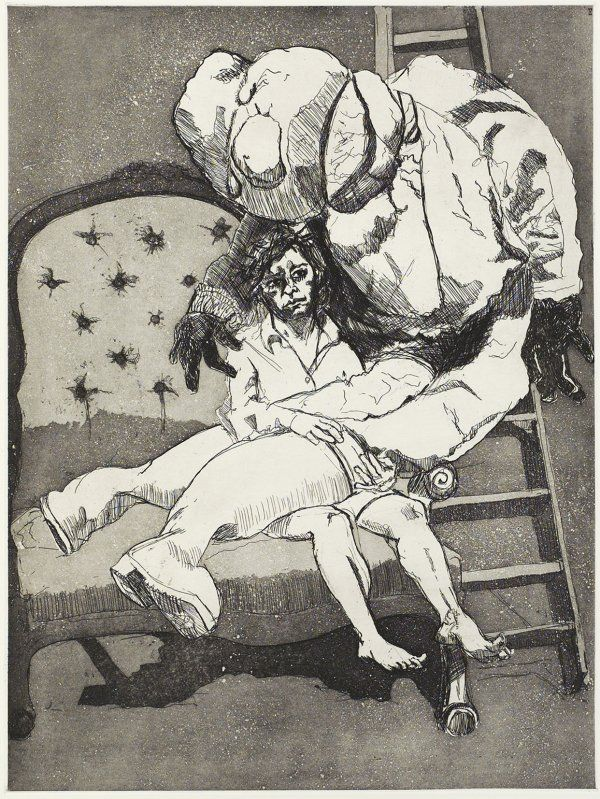 Paula Rego - Lamentation (etching and aquatint)
