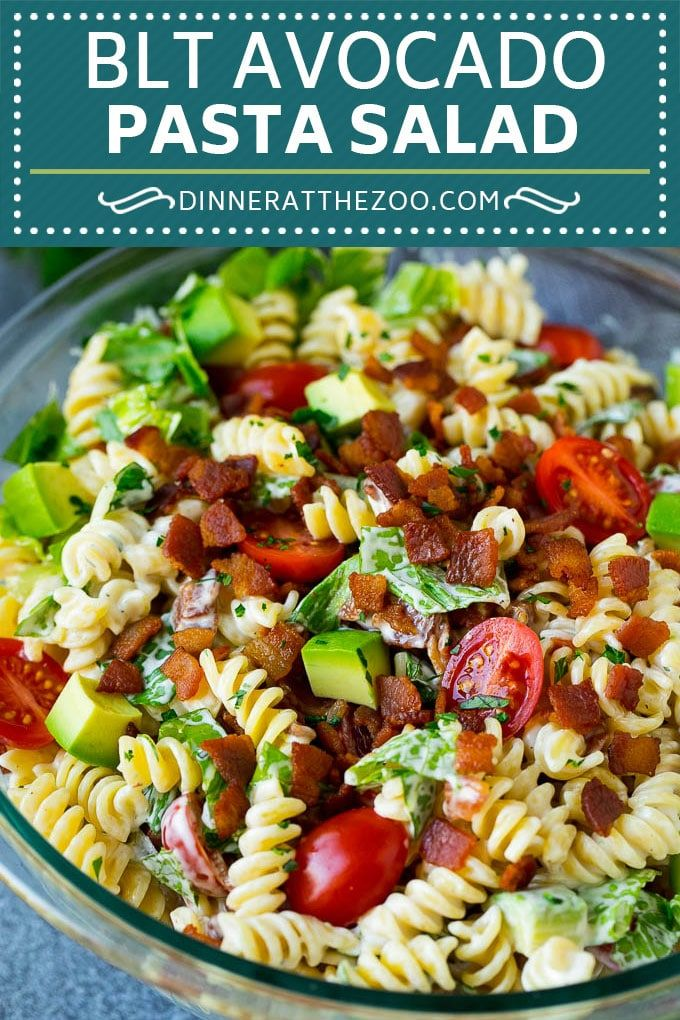 BLT Nudelsalat Rezept | Einfacher Nudelsalat | Speck Nudelsalat #salat #pasta #blt …   – Food