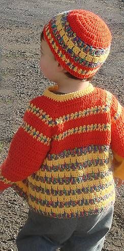 Crochet Child's Cardigan Bunny Hop - baby or toddler - free crochet pattern for baby sweater - Crystal Palace Yarns