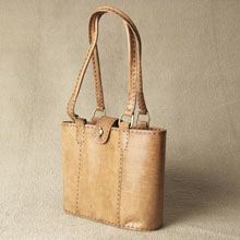 Handmade Fair Trade Leather: Walk about small - tan