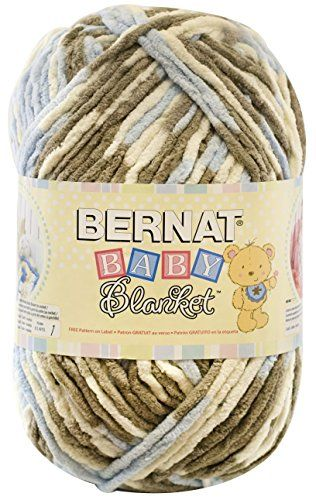 """I knew when I saw this """"Bernat Baby Yarn"""" that it was going to be perfect for a Crochet Baby Blanket Pattern! This Sea Soft Baby blanket pattern is extremely simple and works up super fast! A great beginner project! I found that single crochets were easiest to use with this yarn since it is bulky and in my opinion any other kind of stitch would leave holes that little"""