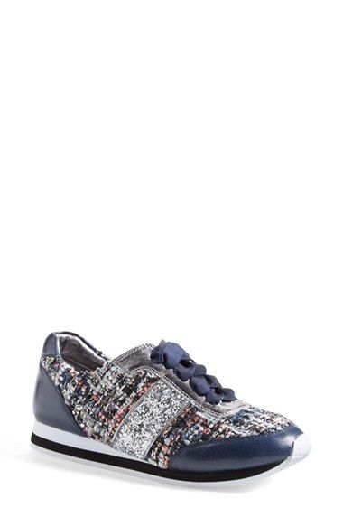Free shipping and returns on kate spade new york 'sidney' leather sneaker (Women) at Nordstrom.com. A classic leather sneaker in a bright, spring-ready print has a gleaming spade charm at the heel for signature finishing touch.