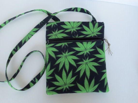 Hipster Bag  Cannabis Crossbody bag  420 by BitchinBagsbyBenita