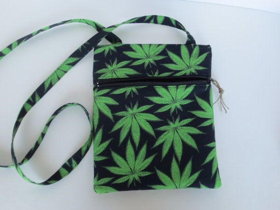 Hipster Bag  Cannabis Crossbody bag  420 by BitchinBagsbyBenita