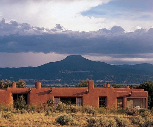 Georgia O'Keeffe's Ghost Ranch : Cerro Pedernal in the distance. Photo by Robert Reck
