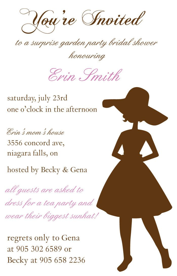 Garden Party Bridal Shower Invitation | shower and party ideas ...