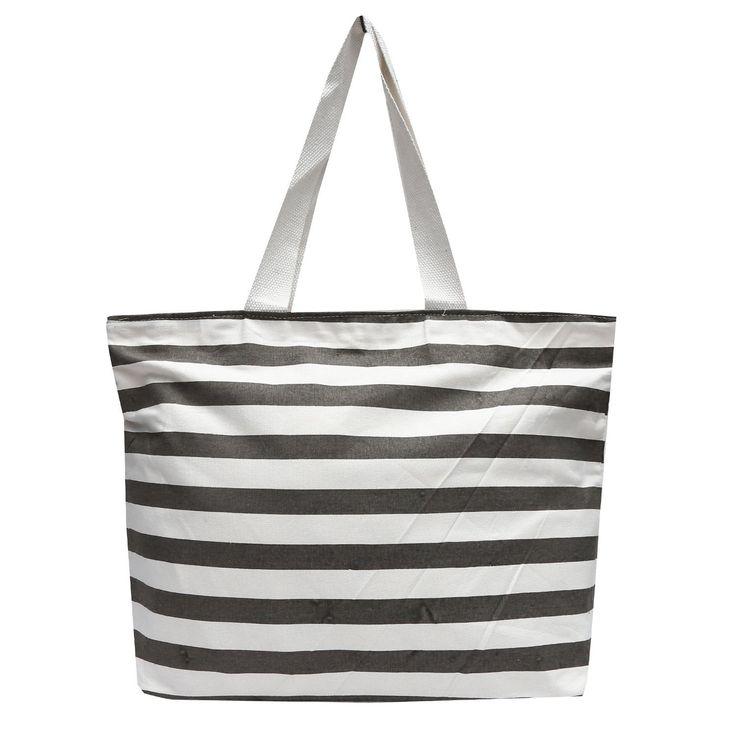 #Estilo Store Grey #Stripe Tote #Jute Bag
