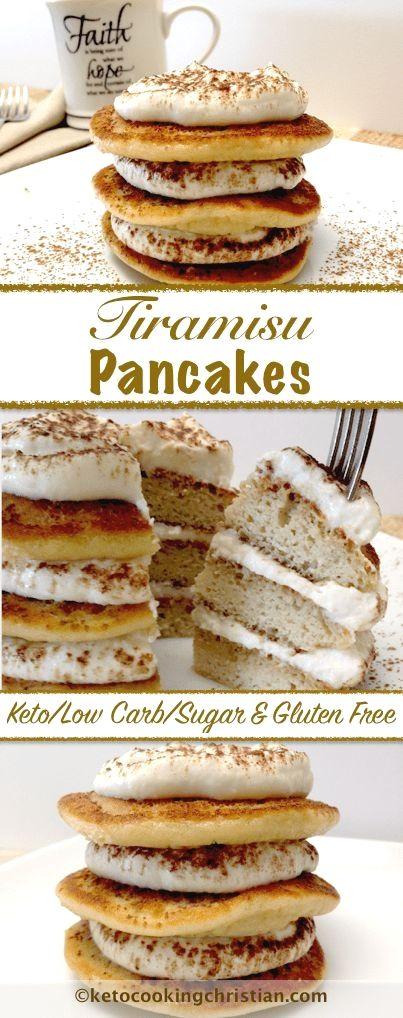 Tiramisu Pancakes – Keto, Low Carb, Sugar & Gluten Free Mouth Watering Keto Diet Friendly Breakfast Ideas #keto_recipes #low_carb_recipes #Keto_diet #MooCarb.com