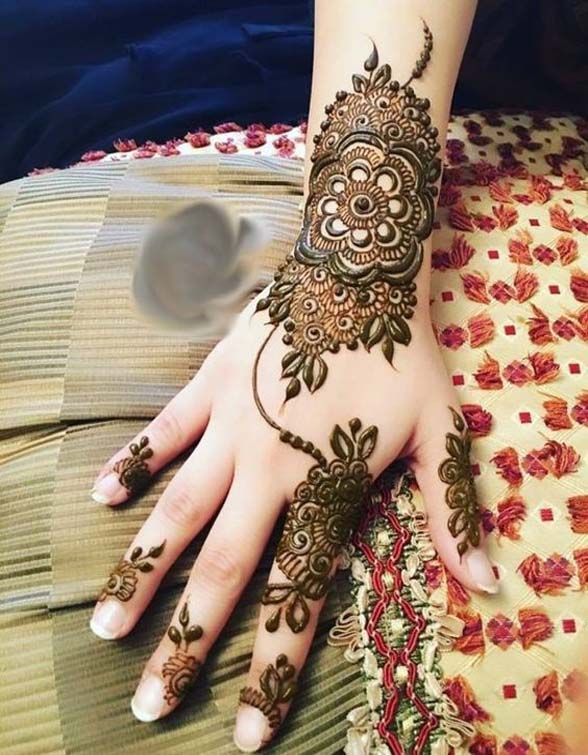 New Indian Mehndi Designs For Bridal 2018