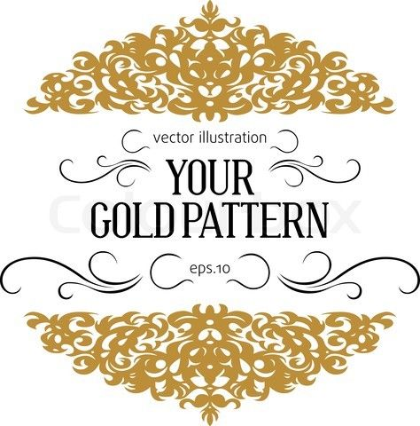 Vector of 'vintage golden border' for table numbers ...